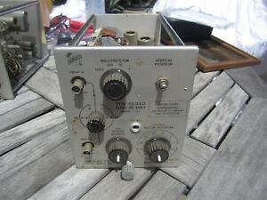 Tektronix Type 53 54d High Gain Differential Calibrated Dc Preamp