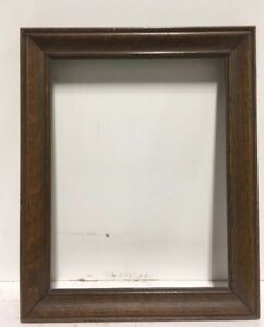 Antique Arts And Crafts Mission Fumed Oak Picture Frame Fits 6 1 4 X 8 1 4