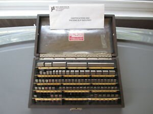 Starrett Webber 81 Pc Rectangular Steel Gage Set Rs81a1 Grade 2
