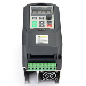 1 5kw Single Phase Input To 3 Phase Output Frequency Converter 2hp Vfd Vsd In Us