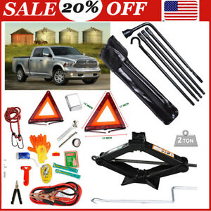 For Dodge Ram 1500 Auto Emergency Kit Emergency Pack With Tire Tools Kit jack 2t