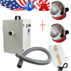 Usa 1200w Dental Digital Dust Collector Vacuum Cleaner 2x Desktop Suction Base