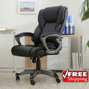 Executive Manger Pu Leather Office Chair High Back Desk Conference Office Home