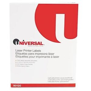 Universal Office Products 80120 Laser Printer Permanent Labels 1 X 2 5 8