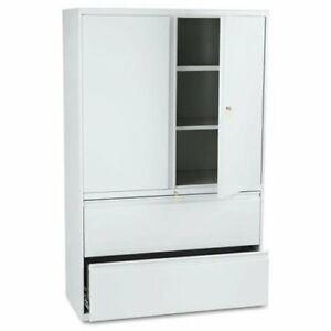 Hon 800 Series Wide Lateral File With Storage Cabinet 42 X 19 3 X 895lsq