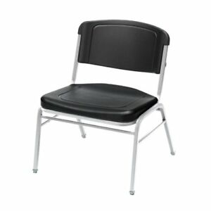Iceberg Big Tall Stack Chairs Polyethylene Black Seat Back ice64121
