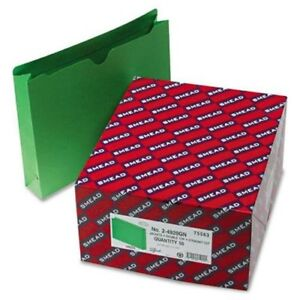 Smead 75563 Green Colored File Jackets Letter 8 50 Width X 11 Length Sheet