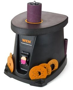 Wen 6510 Oscillating Spindle Sander Sleeves Drum Plates Wood Working Bench Tool