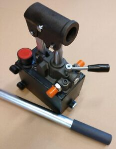 Hydraulic Hand Pump For Double Acting Cylinder Closed Center 0 75in3 4500 Psi