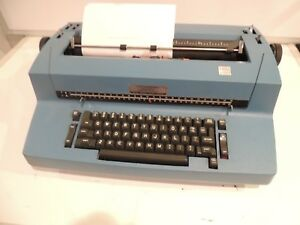 Vintage Ibm Selectric Ii Electric Correcting Typewriter Blue