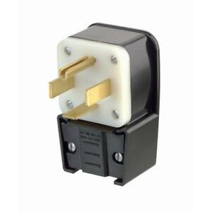 Leviton 9462 p 60 Amp 125 250 Volt Straight Blade Plug Industrial Grade Grounded