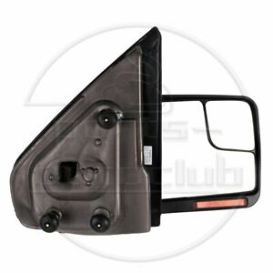 Passenger Side Tow Mirror Black 04 14 Ford F150 Power Heated Signal Puddle Light