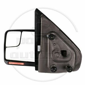 Driver Side Tow Mirrors Black 2004 14 Ford F150 Power Heated Signal Puddle Light