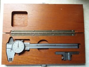 Vintage Brown Sharpe Dial Calipers Swiss Made 579 1 Includes Depth Collar