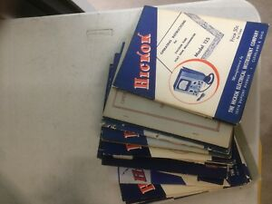 35 Original Hickok Test Equipment Manuals Free Shipping