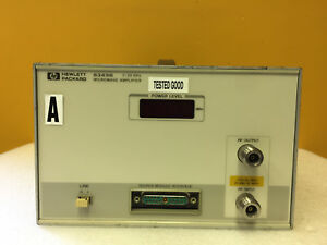Hp Agilent 8349b 2 To 20 Ghz High Performance Broadband Amplifier Tested