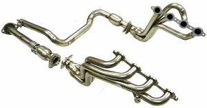 Maximizer Long Tube Header W Cats Fits 00 05 Sierra 2500 H2 Silverado Ss 6 0l