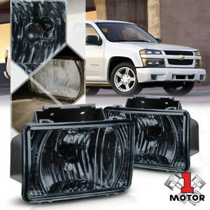 Chrome Housing Smoked Lens Fog Light Lamps For 04 12 Chevy Colorado gmc Canyon