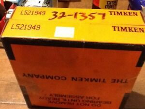 Timken L521949 Tapered Roller Bearing Lot Of Two