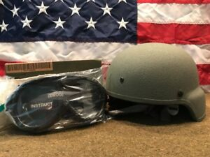 U.S. Military Advanced Combat Helmet (ACH) with Pads Chin StrapGoggles NEW!!!!