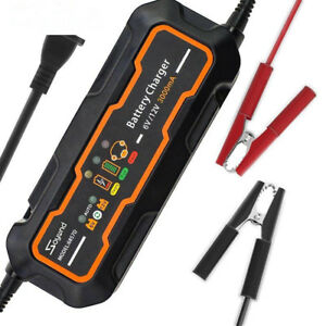 6v 12v 3a Smart Car Battery Charger And Maintainer Desulfator Waterproof 3000ma