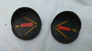 Vintage Pair Arrow Safety Hooded Turn Signals Light Lens 30 S 40s Bus Car Truck