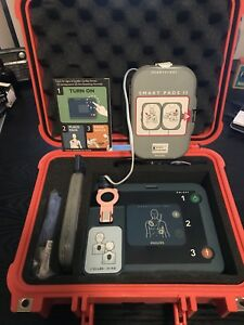 Philips Heartstart Frx Aed Defibrillator With Pelican And Oem Case Bundle Kit