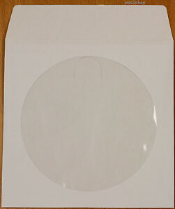 2000 Count White Cd Dvd Video Game Paper Sleeve Envelope With Window Flap 80g