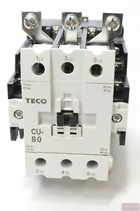 Teco Cu 80 Magnetic Contactor 104 Amp 3 Phase 110v Coil 3a2a2b