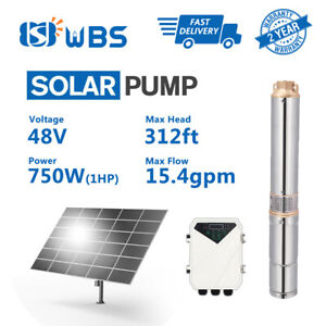 Solar Dc Pump 3 Solar Water Well Bore Pump 48v 1hp Submersible W Controller