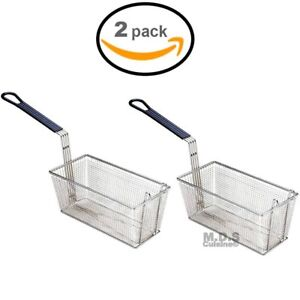 Baskets Frying 2 Deep Fryer Commercial Heavy Duty Stainless Steel Wired 13 l