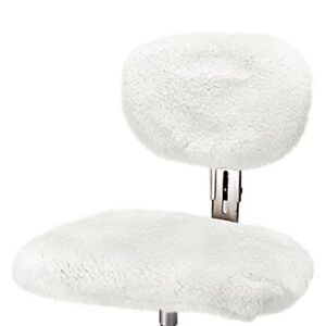 Us Sheepskin 9365l 03 Pearl Large Steno Chair Cover