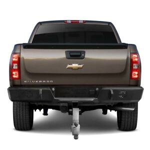 For Chevy Silverado 1500 07 13 Heavy Duty Series Full Width Black Rear Hd Bumper