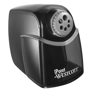 Heavy Duty Electric Pencil Sharpener Office School Supplies Auto Stop Black New