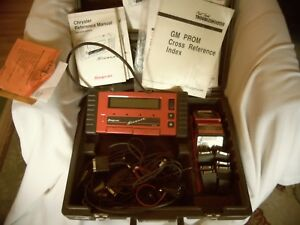 Snap On Mt2500 Scanner Kit W Case Cartridges Cables And Adapters