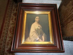 Vintage Deep Well Wood Picture Frame 13 X 15 Overall