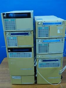 Large Lot Of Hitachi Hplc Equipment Pumps Detectors L 7100 L 7400 D 7000 L 7250