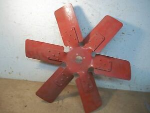 Lot F Old 6 Bladed Ihc Or Farmall Tractor Fan Blade 18 3 8 4 Bolt Hole