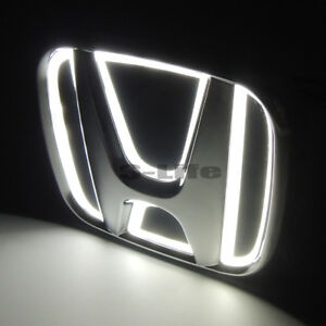 White Auto 5d Led Car Tail Logo Light Badge Emblem For Honda Accord 2008 2009