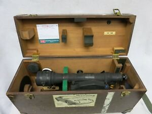 K E Keuffel Esser 9092 22 Surveying Transit Optical Level Scope W Wood Case
