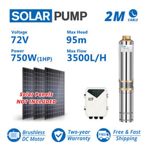 3 Dc Solar Water Pump 72v 1hp Submersible Mppt Controller Deep Bore Well Mppt