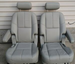 2007 2014 Escalade Esv Suburban Yukon Xl 2nd Second Row Heatedgray Bucket Seats