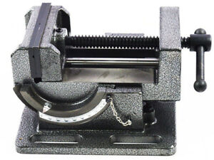 New 4 Inch Precise Heavy duty Tilted Guide Rod Clamp Drill Vise Bench Clamp