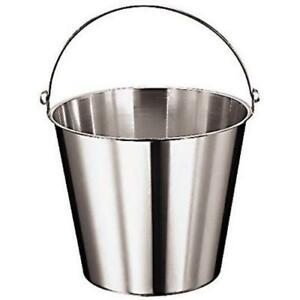 World Cuisine 41960 12 10 5 8 Deep Stainless Kitchen Pail