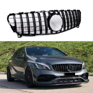 Gt R Panamericana Grille For Facelift W176 A250 A200 A45 Amg 2016 2018 Black