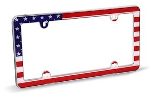 Cruiser Accessories 23003 Usa Flag License Plate Frame Chrome