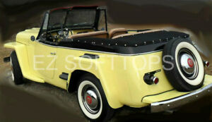 1948 1951 Willys Jeepster Convertible Top Boot