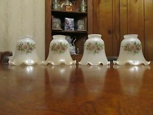 4 Antique Sconce Glass Shades Perfect 2 1 4 Collectibles Sconces Glass Shades