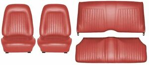 1968 Camaro Coupe Standard Interior Seat Cover Kit Oe Quality Red