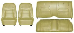 1968 Camaro Deluxe Interior Seat Cover Kit Oe Quality Ivy Gold